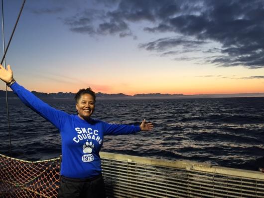 Sunrise in Alaska aboard Oscar Dyson.
