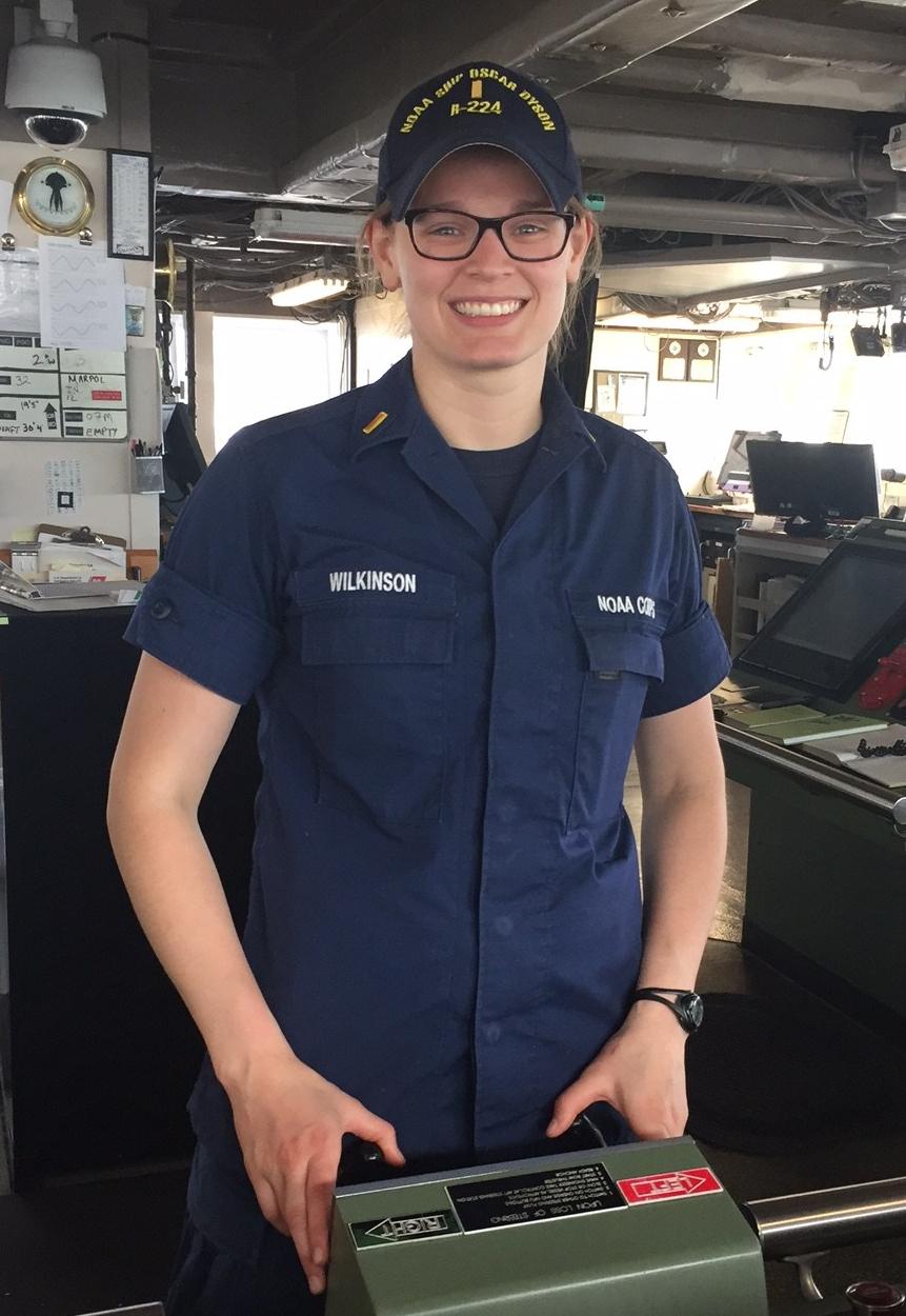 NOAA Corps Officer Caroline Wilkinson