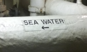 Evap seawater in line