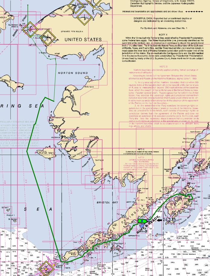 map of route to kodiak