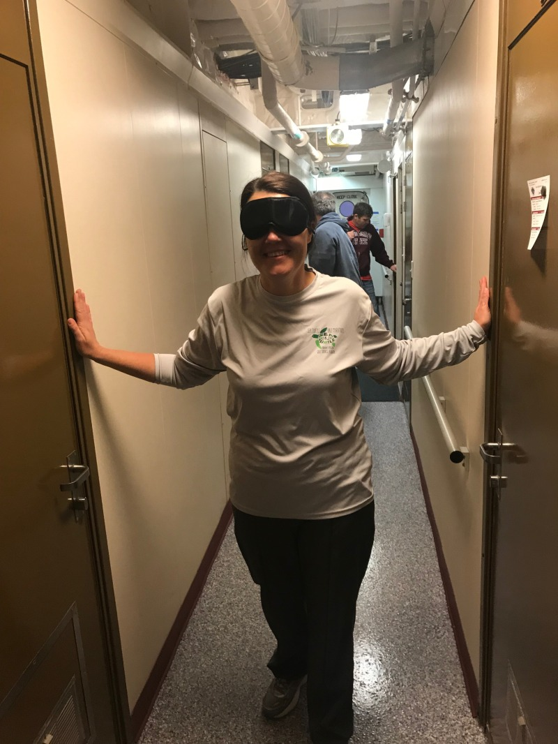Blindfold deck escape