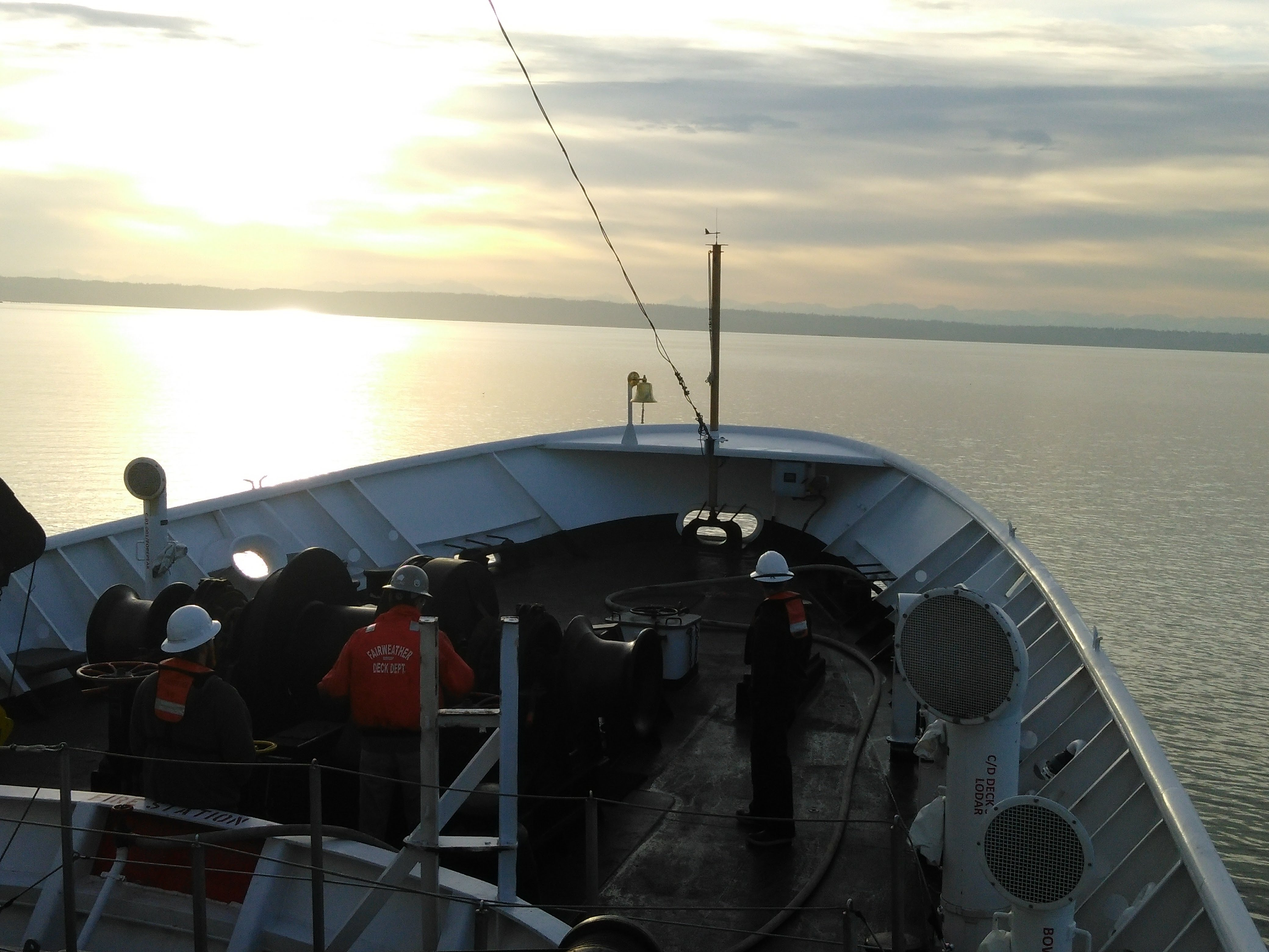Pulling Up the Anchor in Port Madison Shortly After Sunrise
