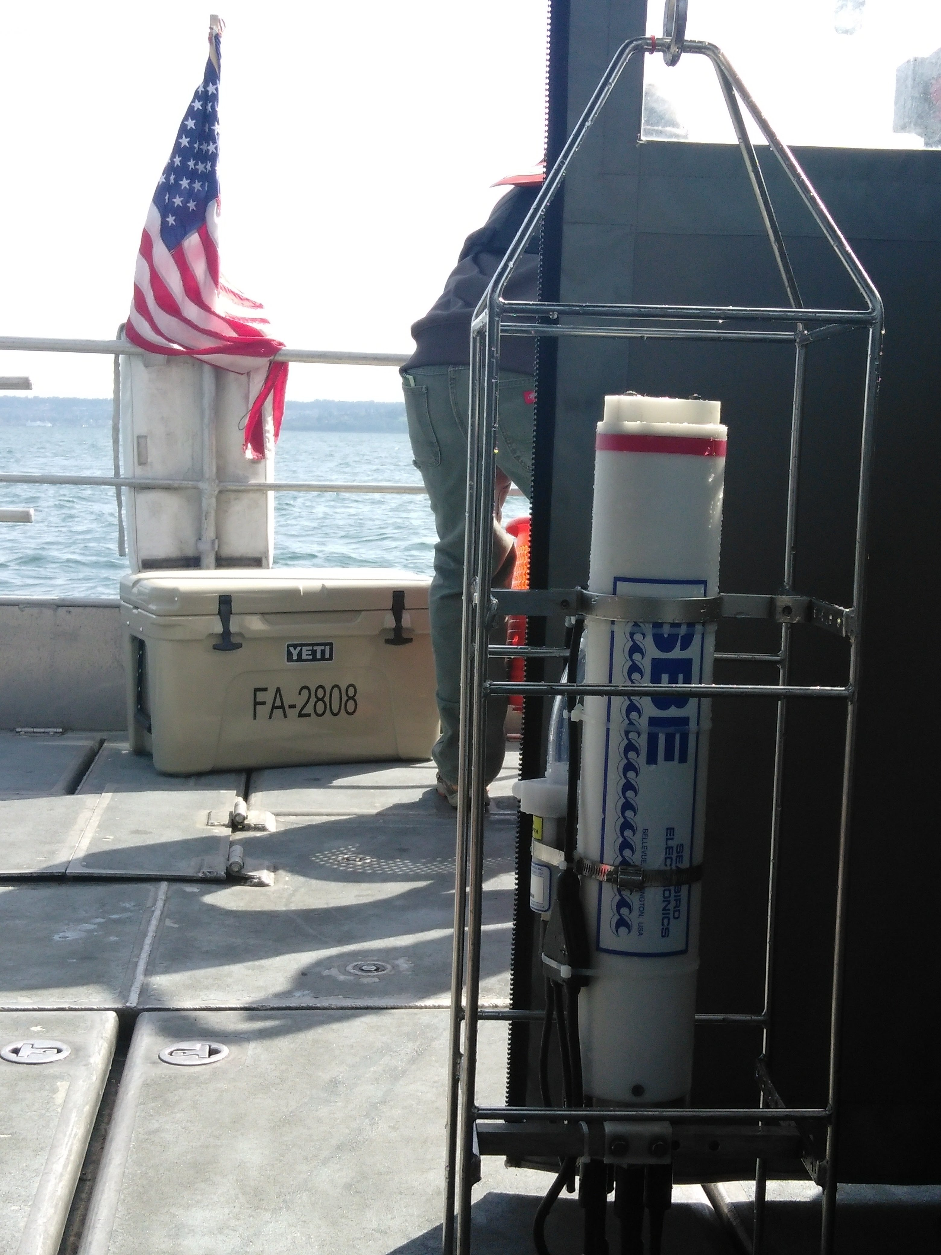 The CTD Stands Ready to Be Deployed on the Launch's Deck