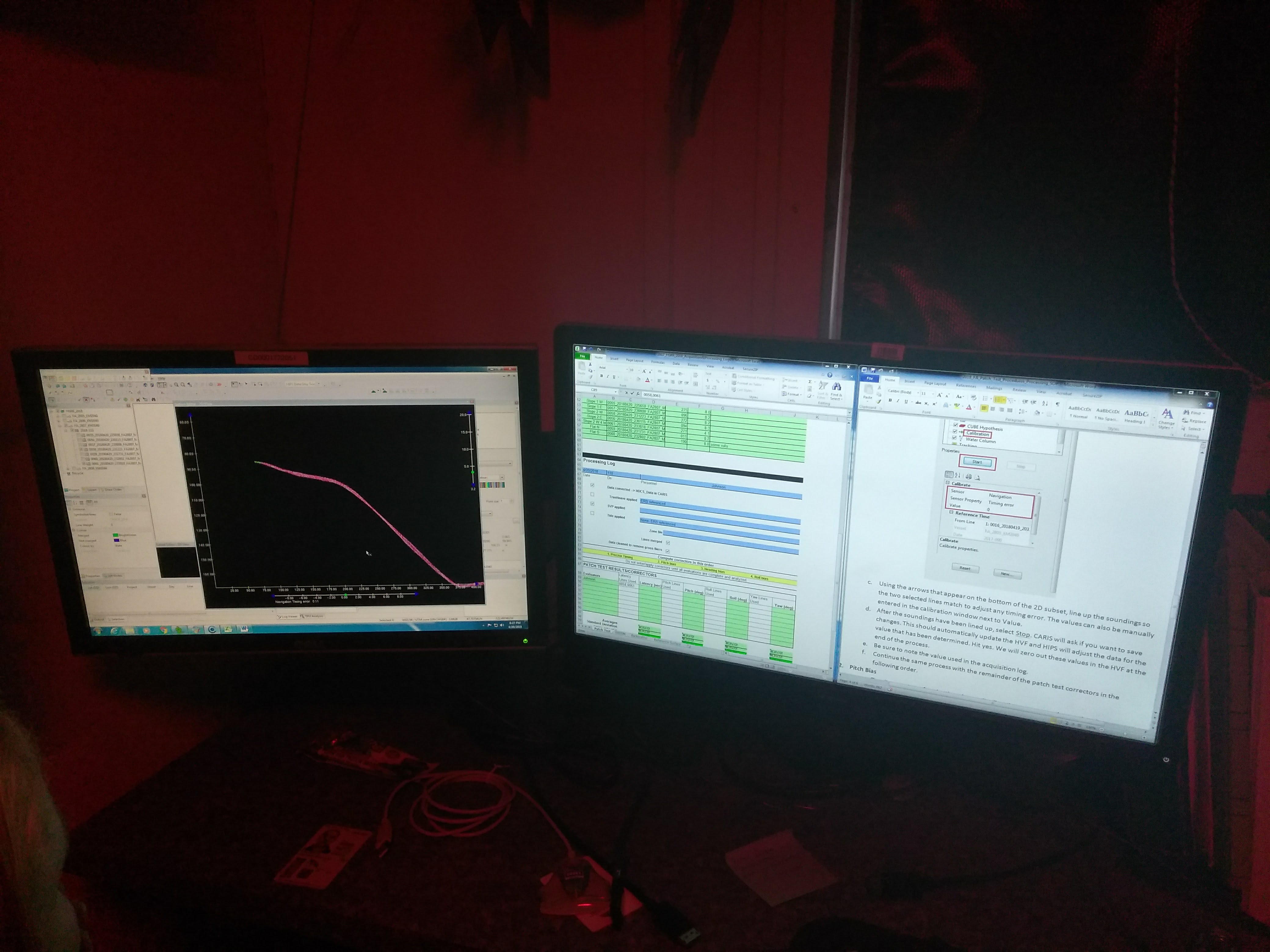 Night Processing of Data in the Plot Room