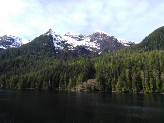 Snowy Peaks Along the Inside Passage