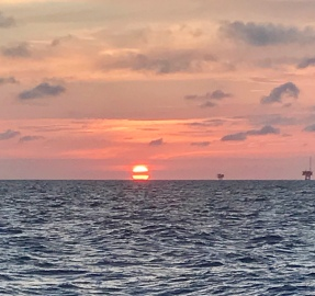 sunset April 6