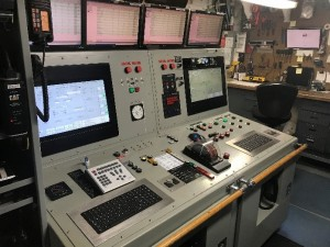 Control panels in engine room
