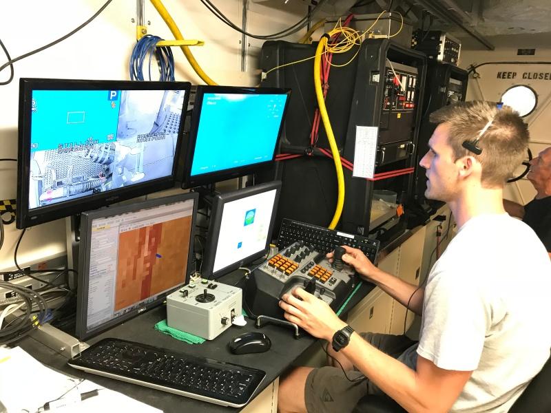 ROV operator Eric Glidden