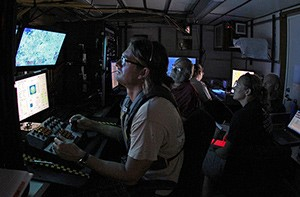 Jason White at the ROV controls.