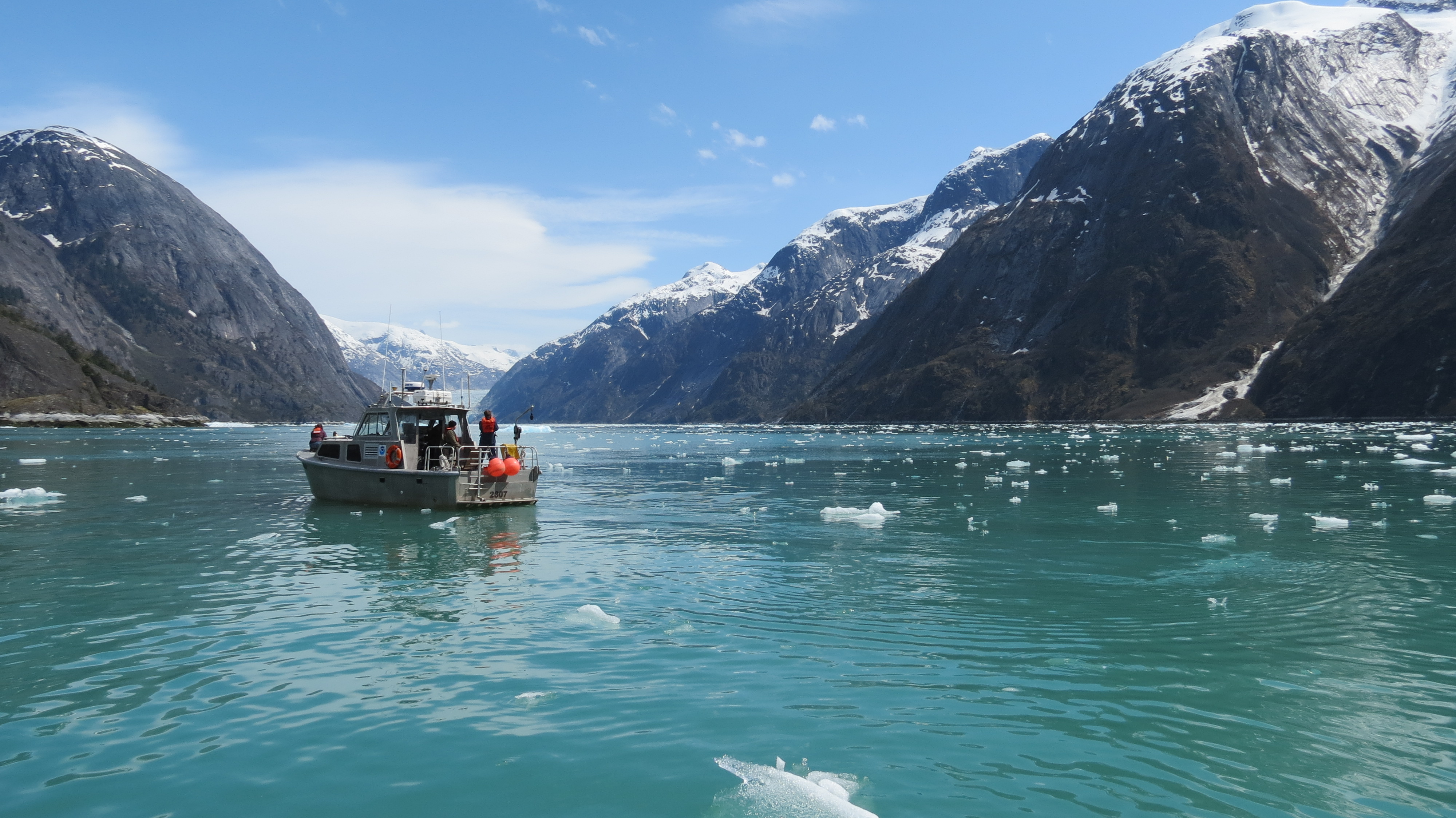 launch at Dawes Glacier