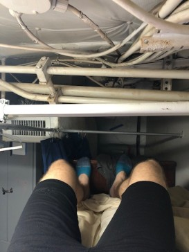 Geoff's bunk on the ship