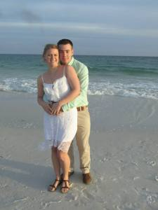 My husband Derrick and I got married on the Gulf of Mexico in 2014.