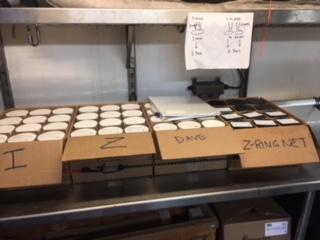 Filled jar samples