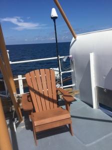 Deck chair on deck