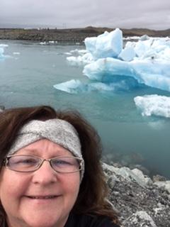 TAS Joan Shea-Rogers and a Glacier