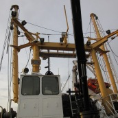 Part of the trawling equipment on Oregon II.