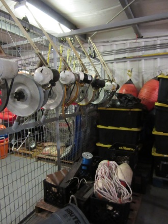 A peek at one of the storage areas in a NOAA warehouse.