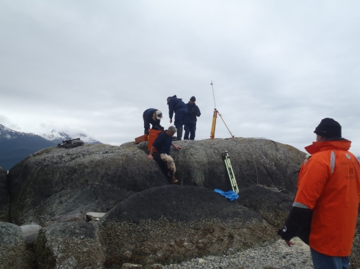 Setting up Base Station on Harbor Island