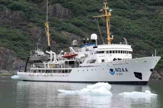 Ship among ice.