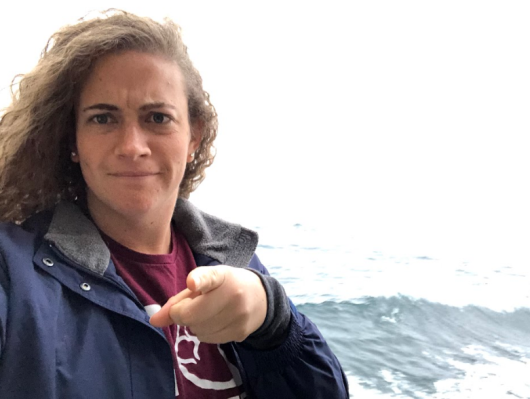 What have you done to protect the oceans lately? Picture of Lacee with finger pointing at camera