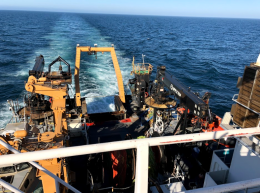 The Stern of NOAA Ship Oscar Dyson taken from the Flying Bridge.