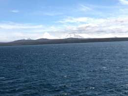 Image taken off of the Alaskan Peninsula taken from the Flying Bridge on 6/9/18 in the afternoon from a closer location.