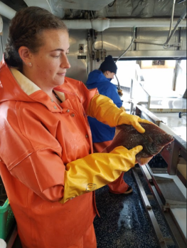 TAS Lacee Sherman with a Yellowfin Sole