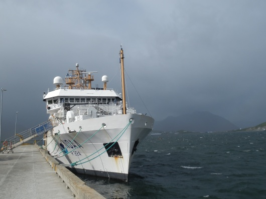 View of the Oscar Dyson on our last morning in Dutch Harbor, AK