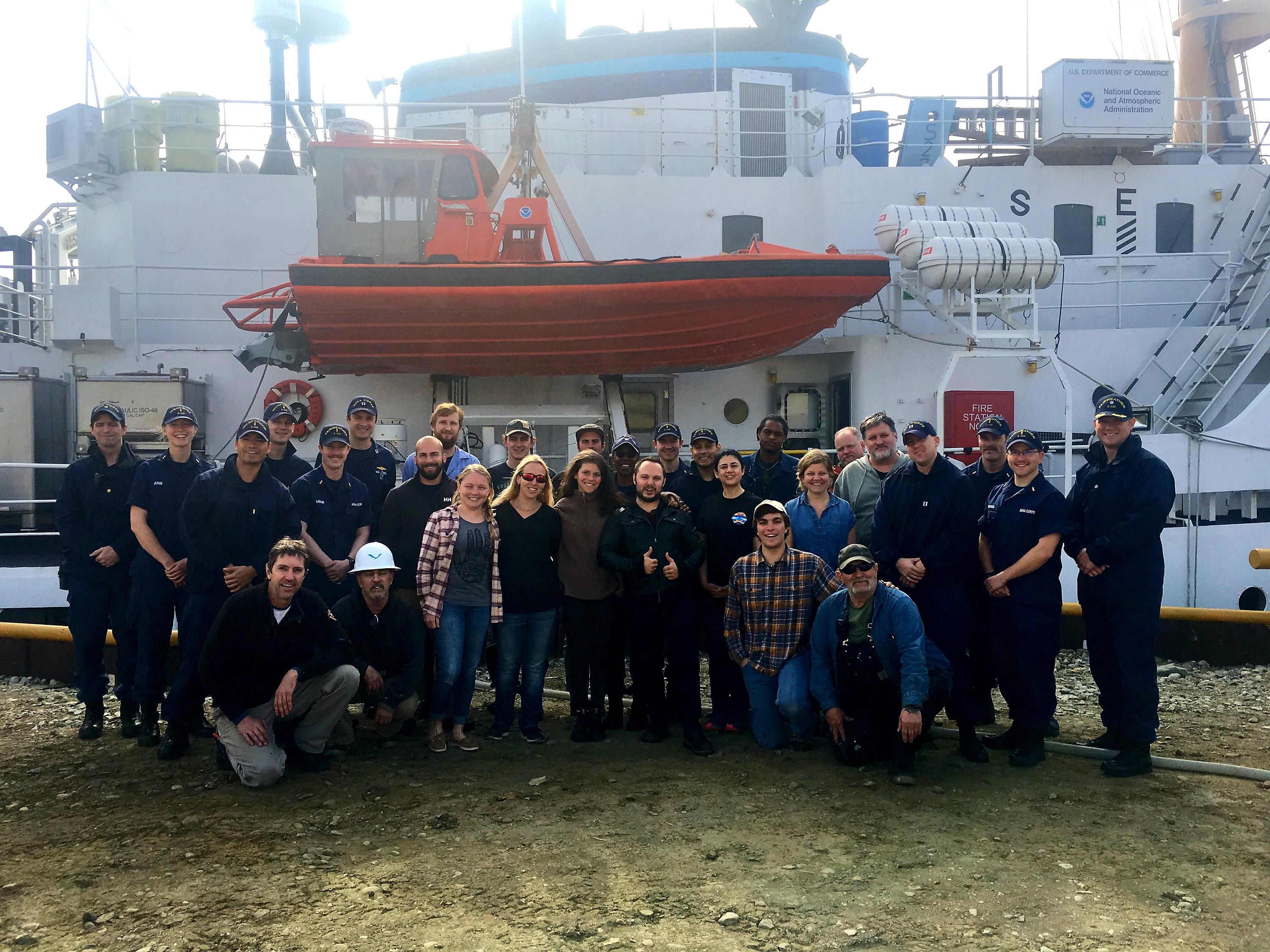 Crew of NOAA Ship Fairweather