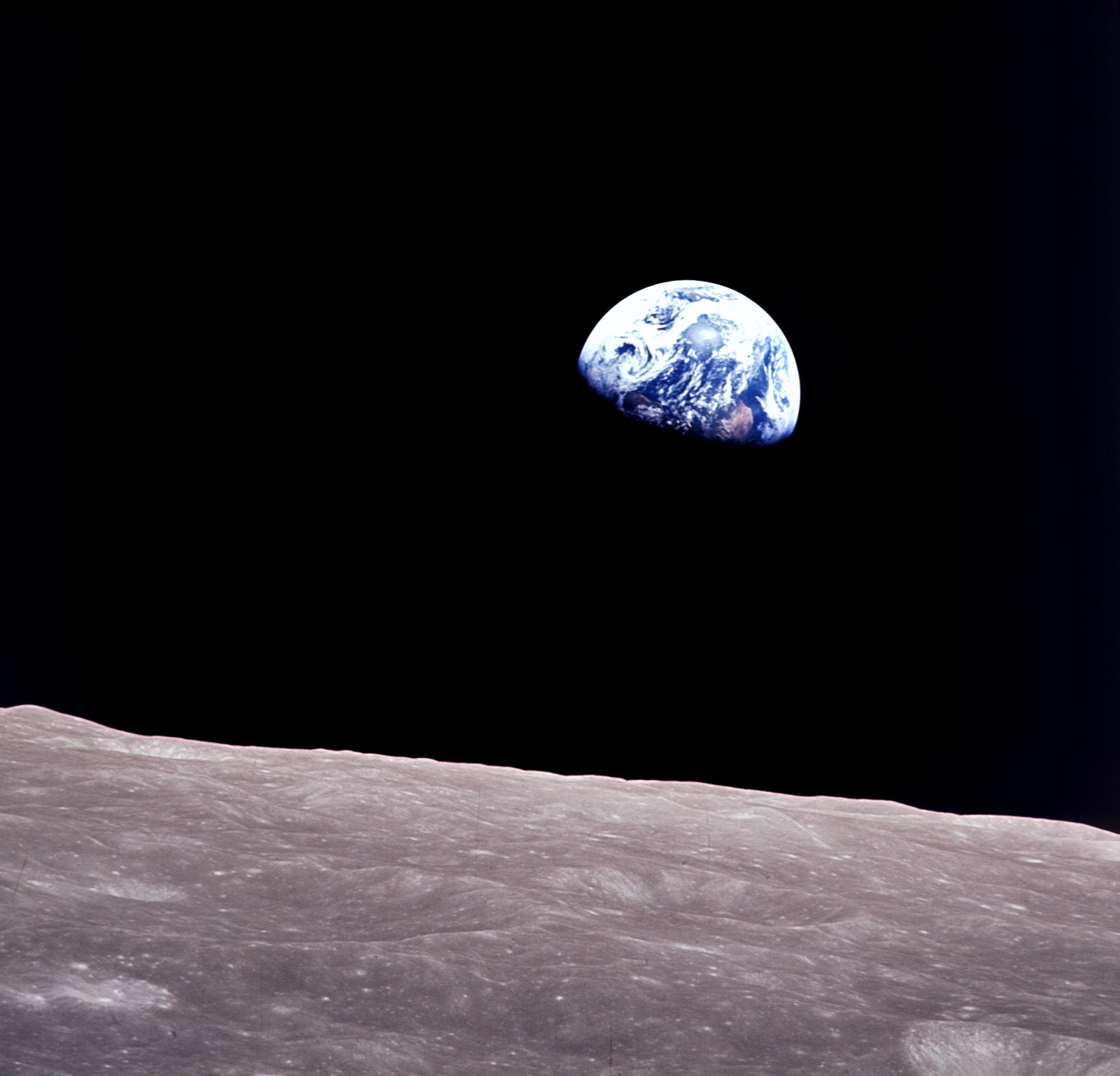 """Earthrise"" Photo courtesy of nasa.gov"