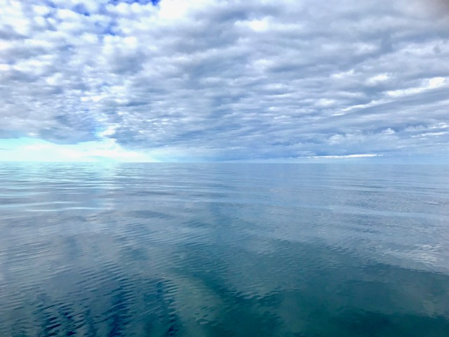 The Arctic Water was calm and beautiful Saturday morning