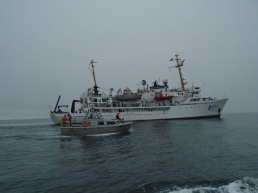 NOAA Ship Fairweather from a launch