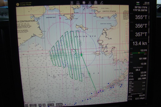 Planned Trackline for 2nd Leg of 2018 Trawl Survey