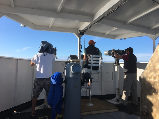 Members of the Cetacean Survey Visual Team on Lookout