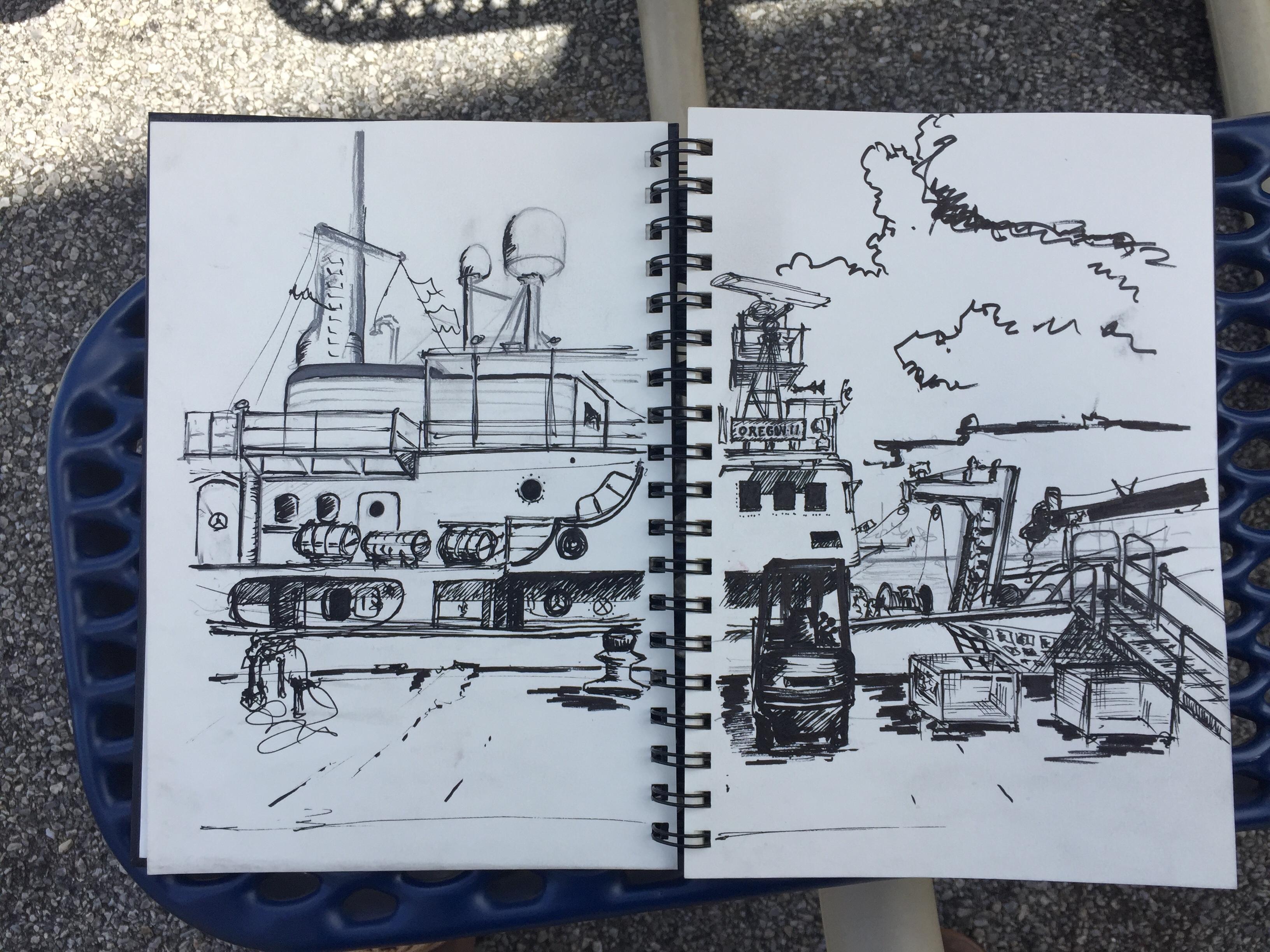 Sketch of NOAA ship Oregon II