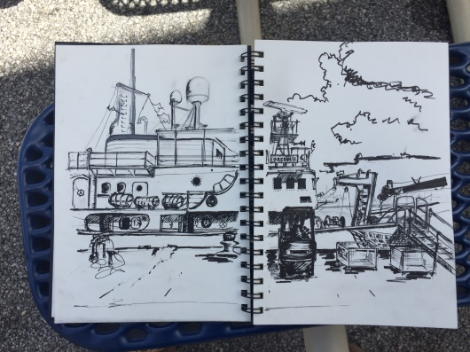 Sketch of NOAA ship Oregon II