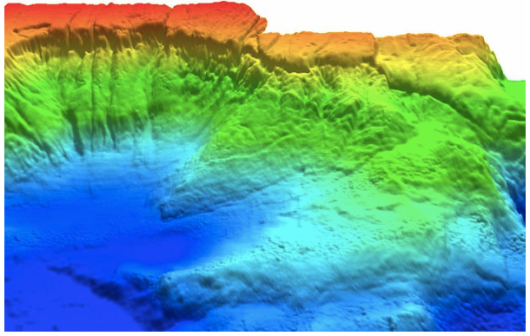 3D bathymetry imagery from the Okeanos Explorer. (NOAA)