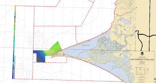 Point Hope survey progress from Leg II