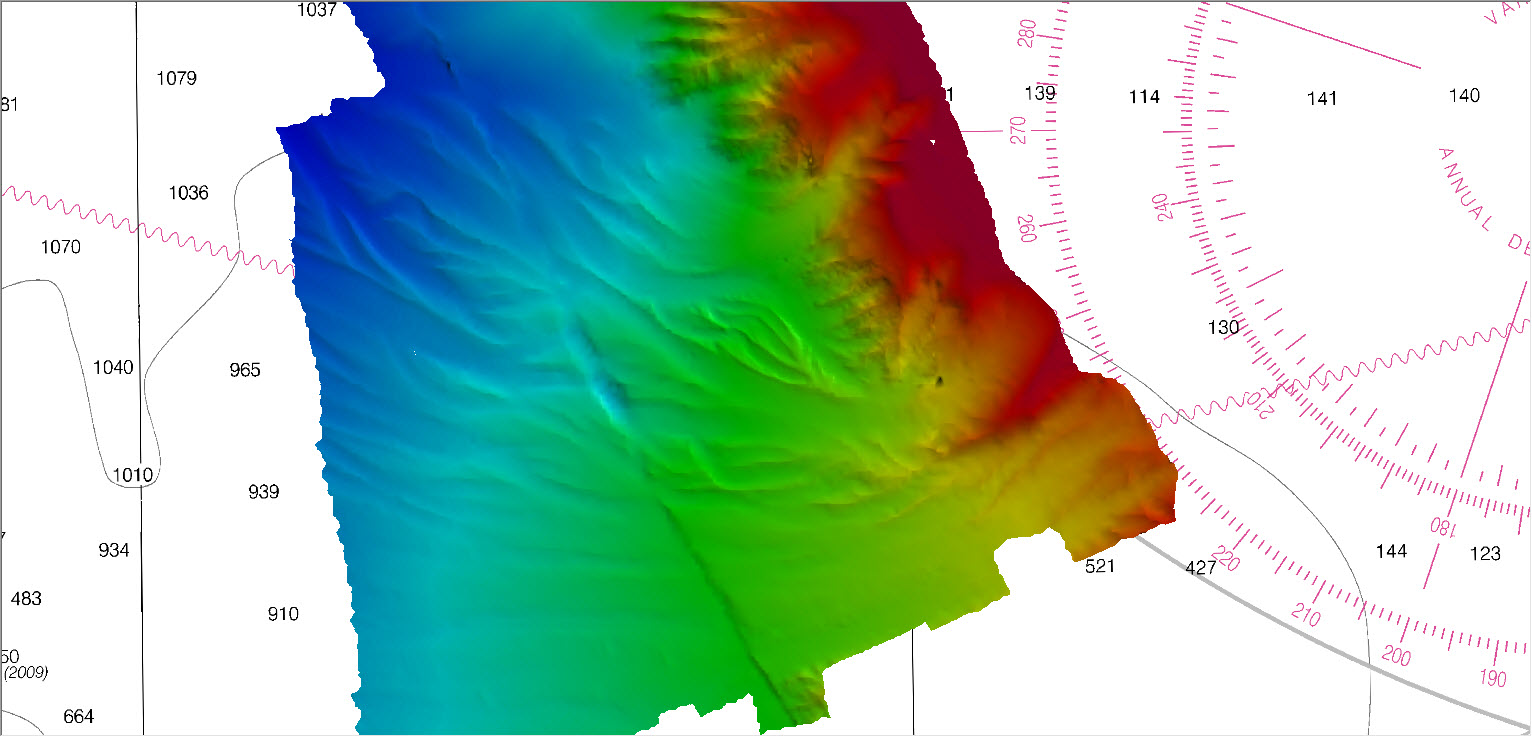 Lower half of Queen Charlotte Fault, photo courtesy of HST Ali Johnson