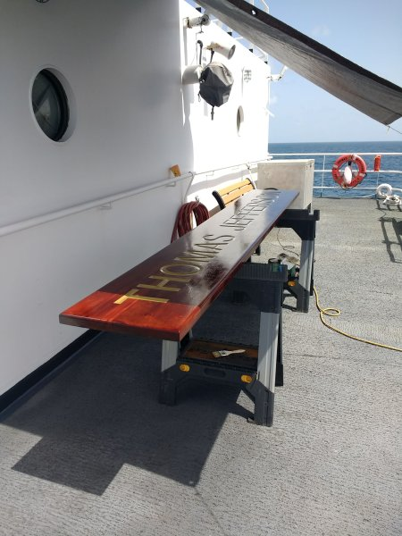 Revarnishing Deck Work