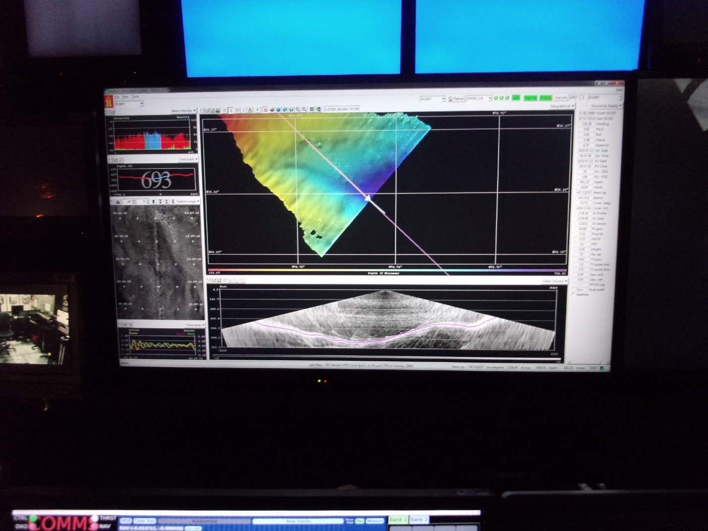 Multibeam sonar data