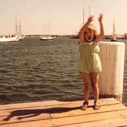 Me as an excited little girl
