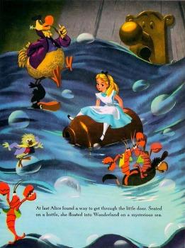 An illustration of Alice in Wonderland