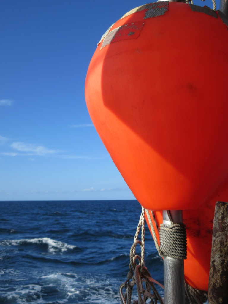 The Atlantic Ocean and a high flyer buoy