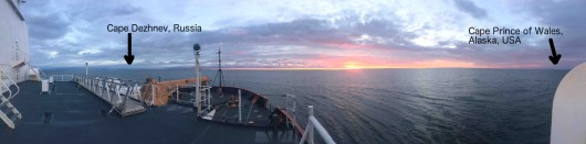 The Bering Strait at sunrise