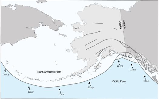 North American and Pacific Plates