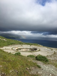 One of the WWII base ruins near Dutch Harbor