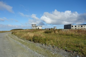 Abandoned air force buildings and the newly remodeled kittiwake tower.