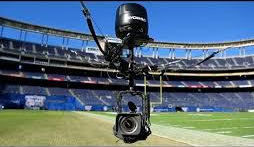 Another image of camera that flies above Superbowl