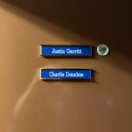 Names on our door